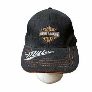 Miller Lite Beer Harley Davidson Hat Strapback